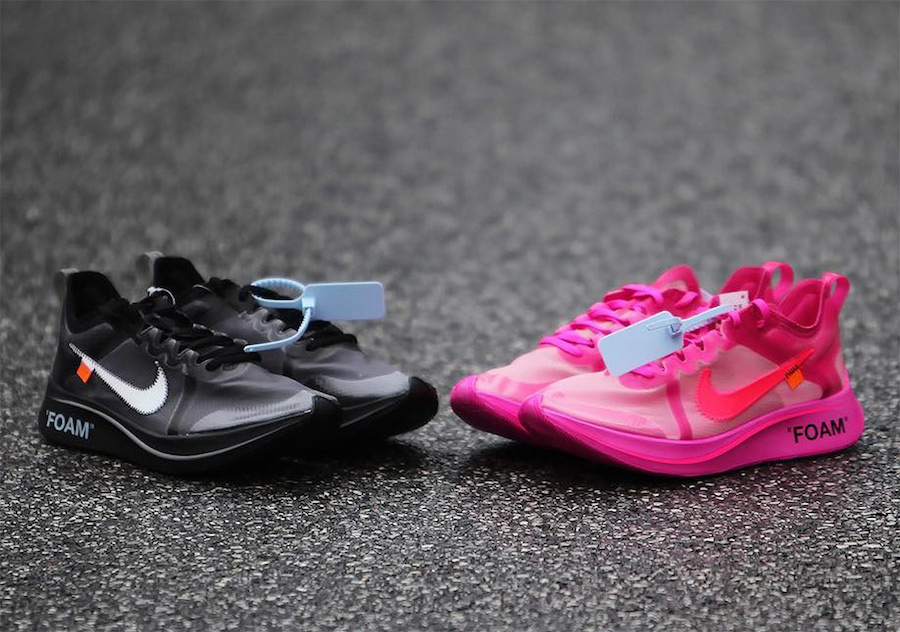 2e356e740dc8 Off-White x Nike Zoom Fly Black + Pink Release Date