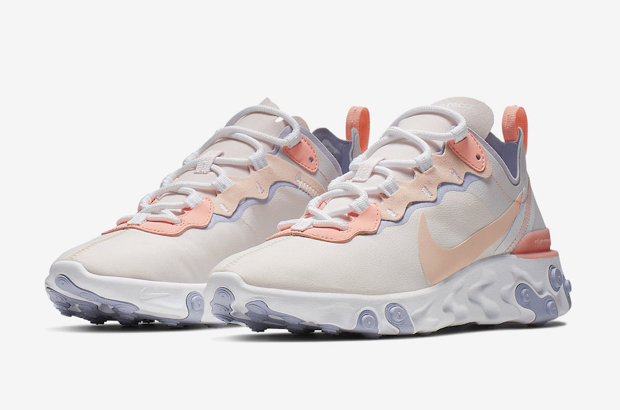 42bfd367d54 Nike React Element 55 Pale Pink Washed Coral BQ2728-601 Release Date ...