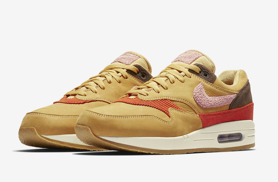 Nike Air Max 1 Wheat Gold Rust Pink