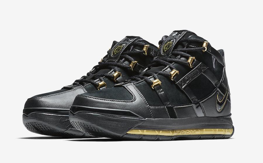Nike LeBron 3 Black Gold AO2434-001