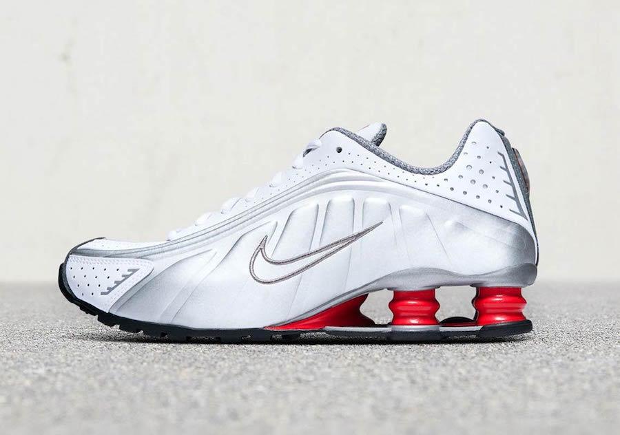 Nike Shox R4 OG 2018 White Comet Red