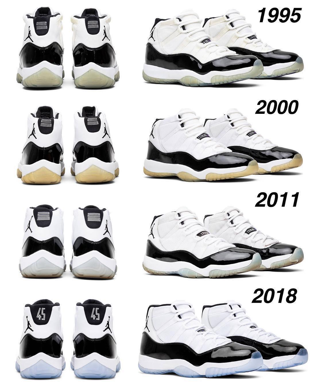 c9fc592168d 1995 2000 2011 2018 Jordan 11 Concord What Was The Best Year Via  @zsneakerhe…
