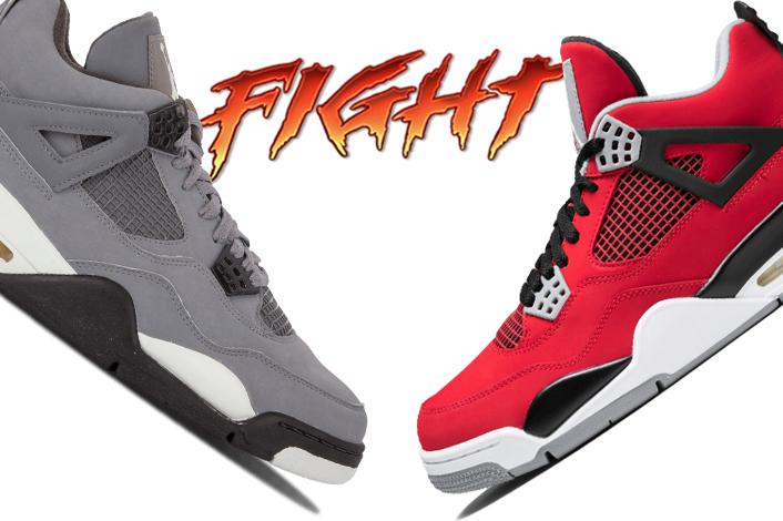 Air Jordan 4 Cool Grey vs Air Jordan 4