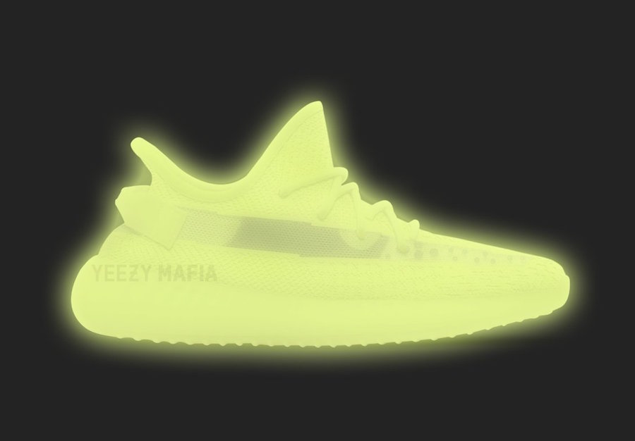 Adidas Yeezy Boost 350 V2 Glow Sz 4 Grailed