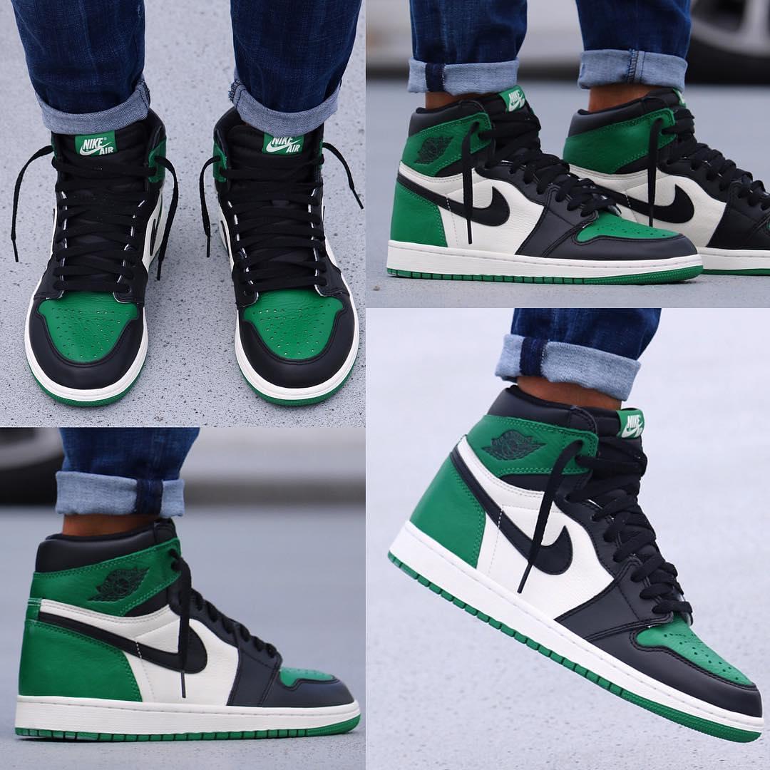 "the latest ba66f 6dbe5 Air Jordan 1 High ""Pine Green"" On Feet | Sept. 22 | $160 Via ..."