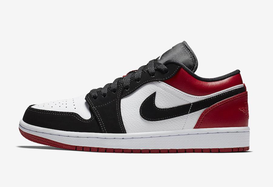 Air Jordan 1 Low Black Toe 553558-116