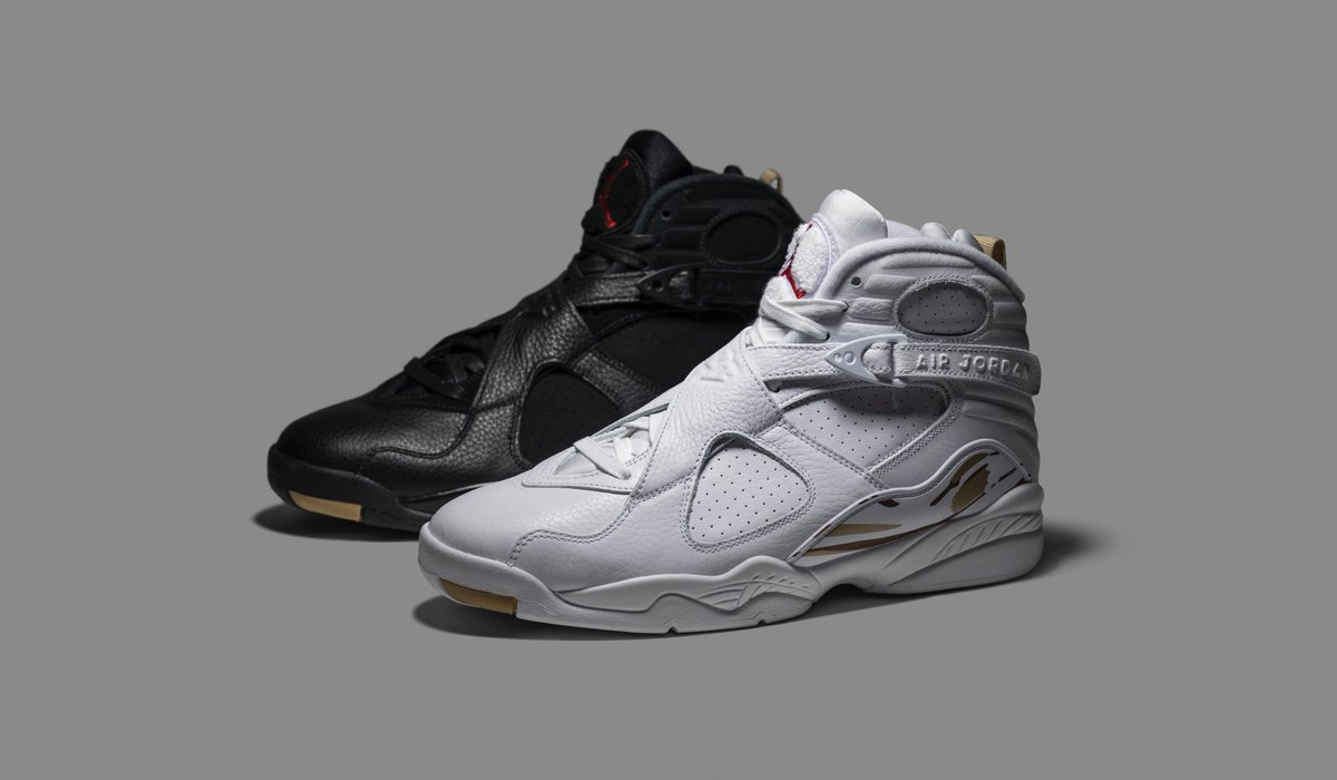 finest selection e65eb a0a7e Both colorways of the OVO x Air Jordan 8 feature premium ...