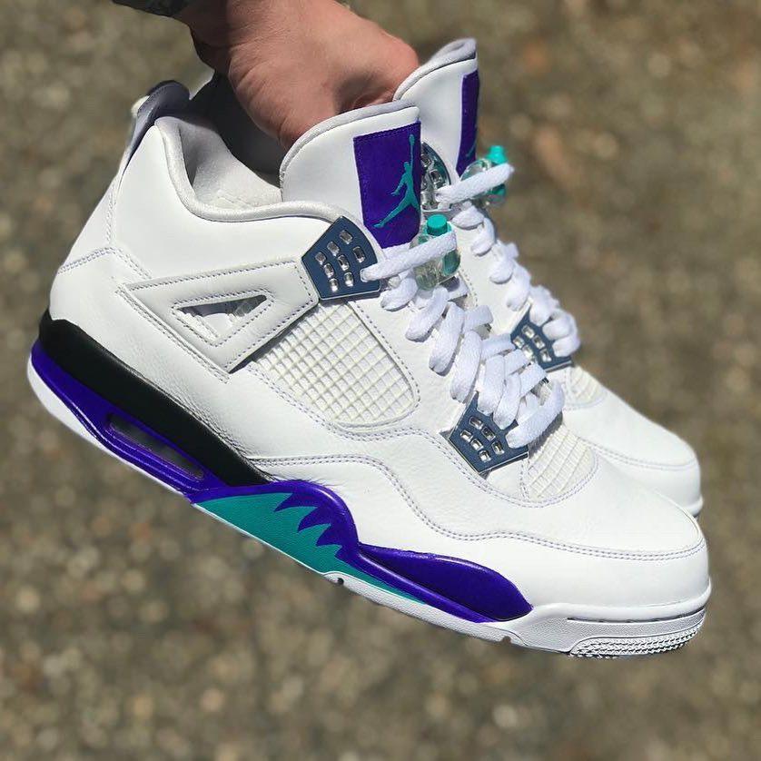 """Custom Air Jordan 4 """"Grape"""" By"""
