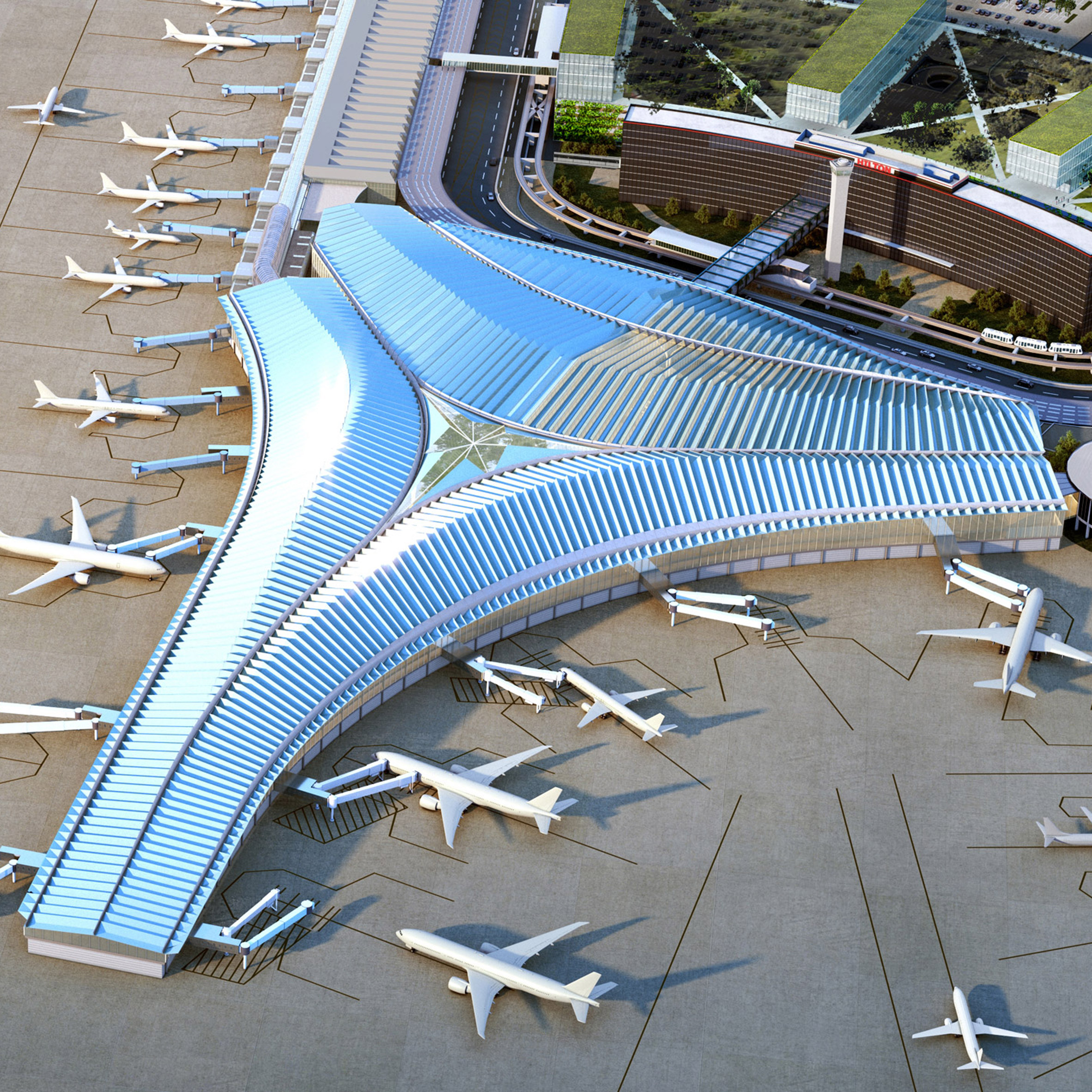 Studio Gang Wins Bid For New Chicago O'Hare Airport
