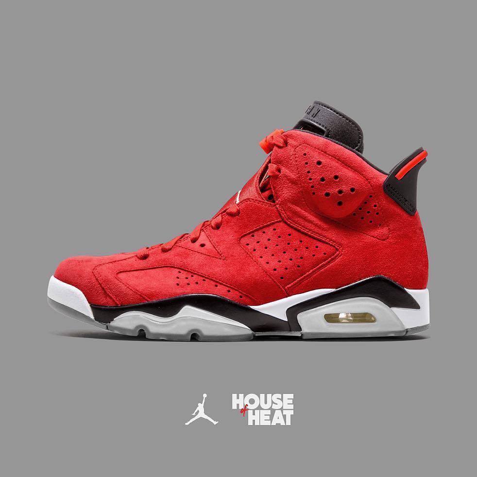 Concept Red Suede Jordan 6 Via